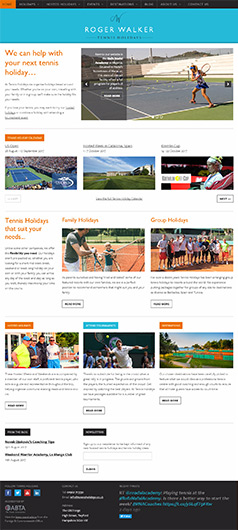Tennis Holidays Website